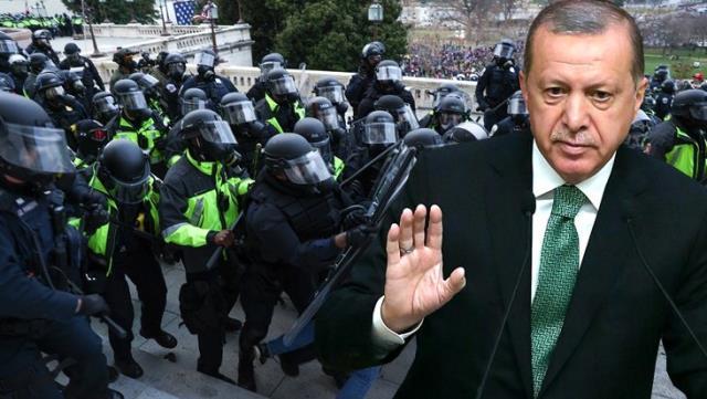 Cumhurbaşkanı Erdoğan'dan ABD'deki kanlı Kongre baskınıyla ilgili ilk açıklama: Demokrasi için bir yüz karası