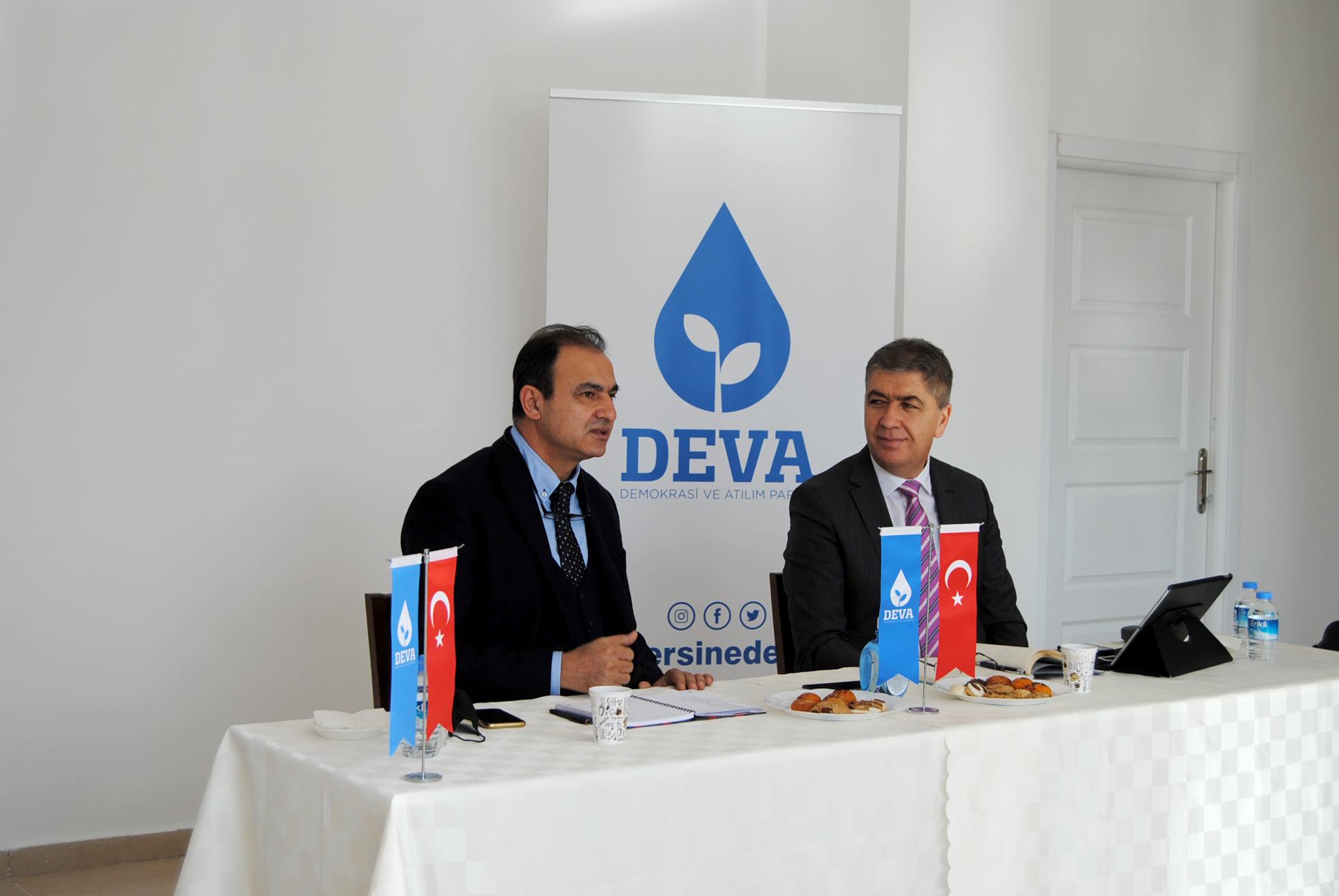 DEVA Partisi Mersin ekibi, Bölge Koordinatörü Satıcı ile bir araya geld