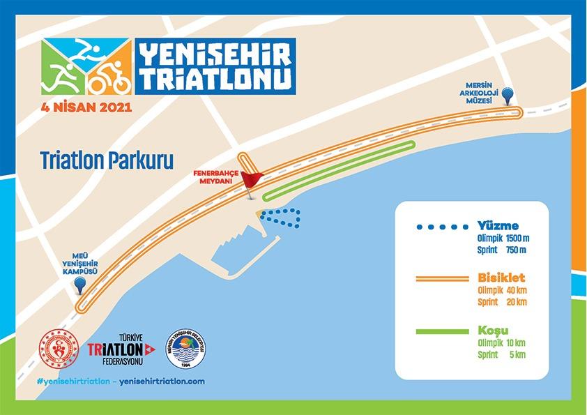 Yenişehir Triatlonu'nun yarış programı ve parkurları belli oldu