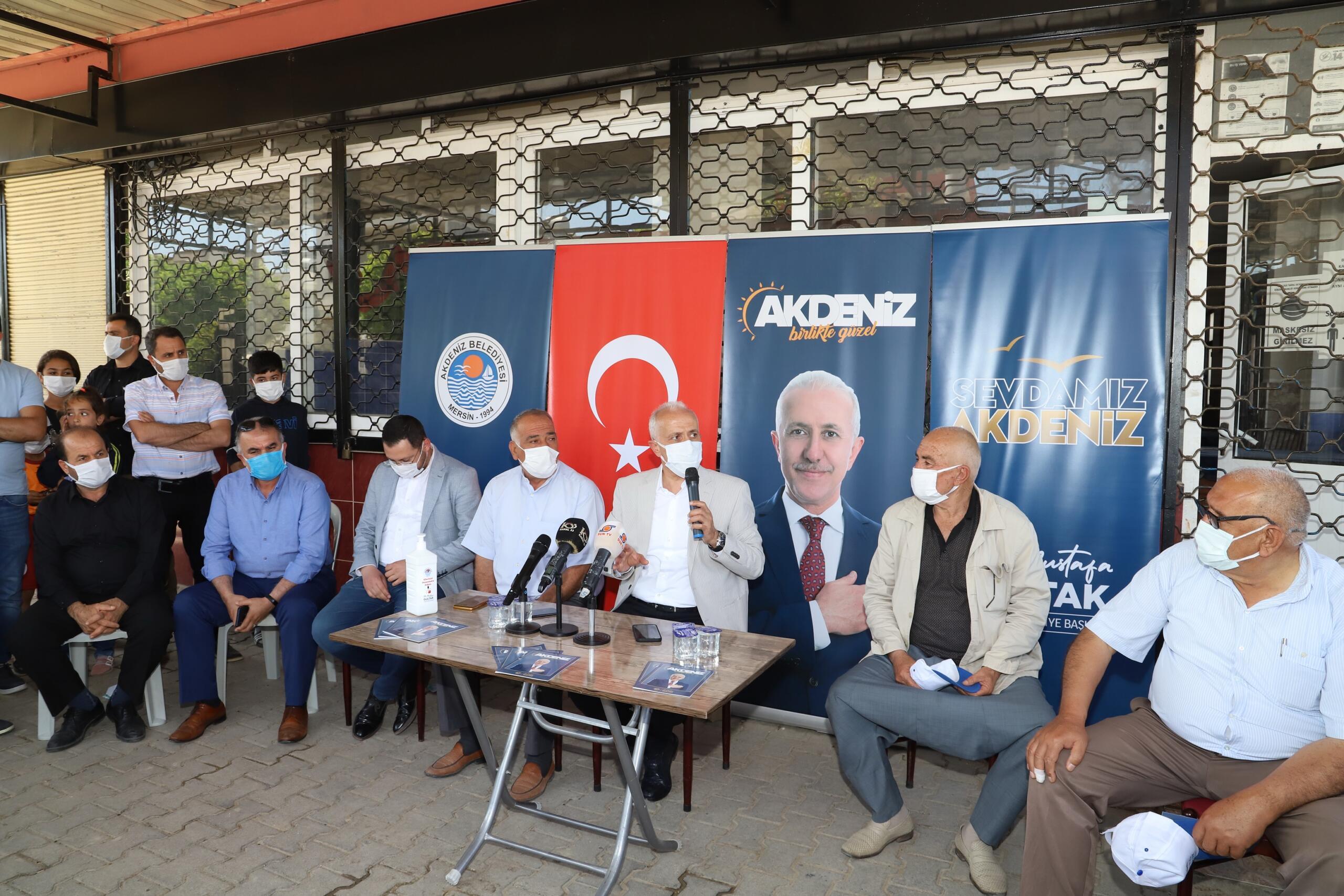 Başkan Gültak; TOKİ'nin yerinde kentsel dönüşüm projesi ile ilgili Çay Mahallesi sakinlerine seslendi: