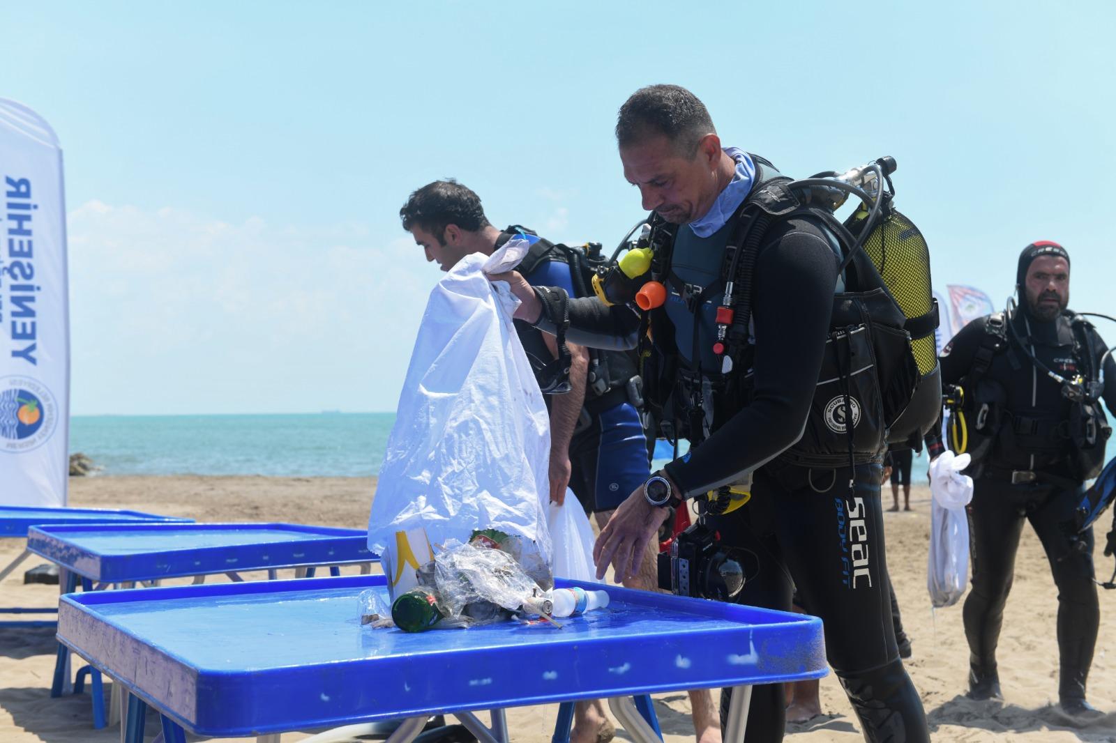 Yenişehir Belediyesinden denizaltı temizliği