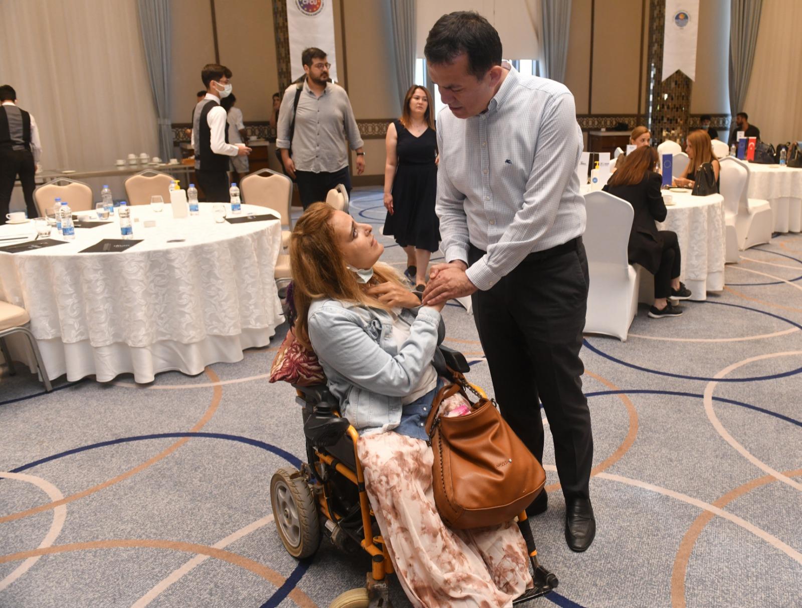 Başkan Özyiğit, engelli bireylere yönelik çalışmalarını anlattı