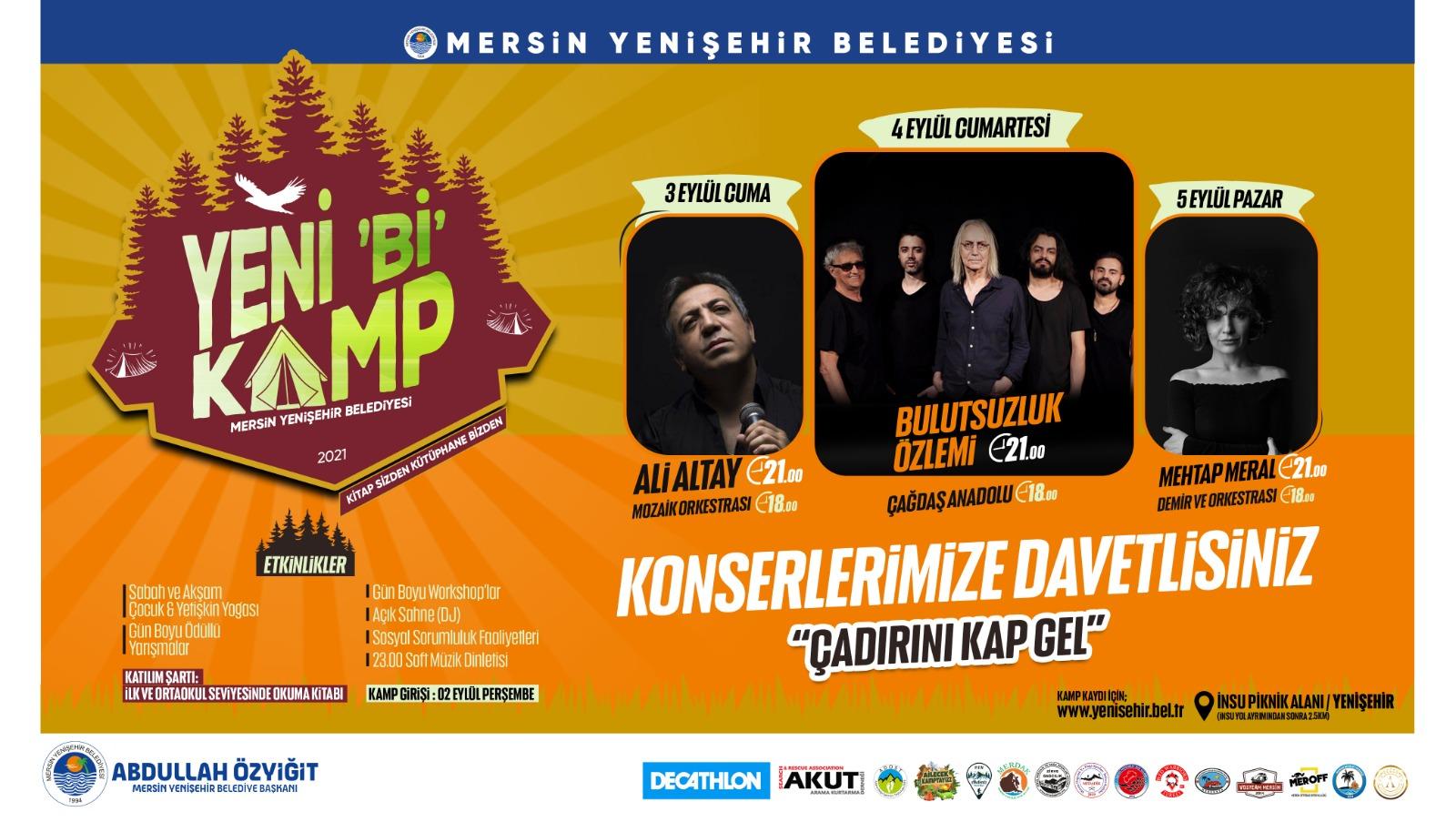 Yenişehir Belediyesi, doğaseverleri Yeni 'Bİ' Kampta buluşturacak