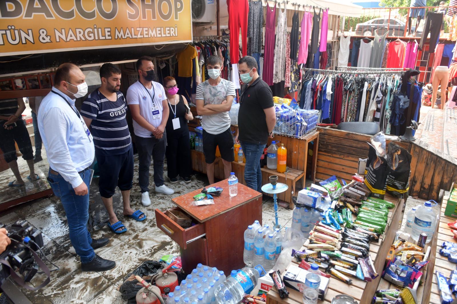 Yenişehir Belediyesi hasar tespit çalışması yapıyor