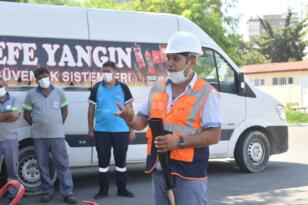 Yenişehir Belediyesi personeline yangın tatbikatı