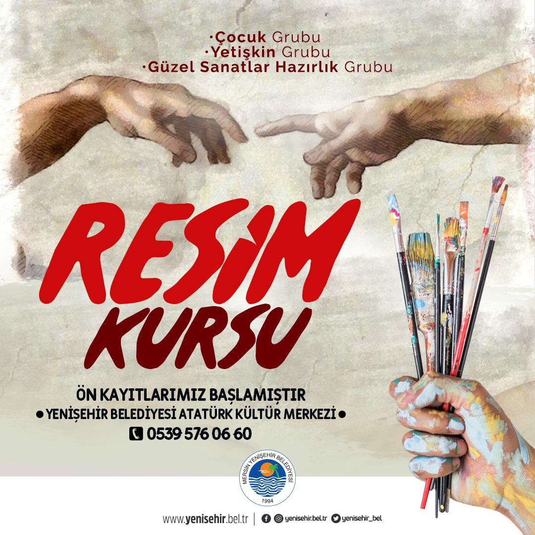Yenişehir Belediyesi resim kursları için ön kayıtlar başladı